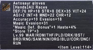 Aetosaur Gloves