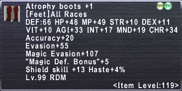 Atrophy Boots +1