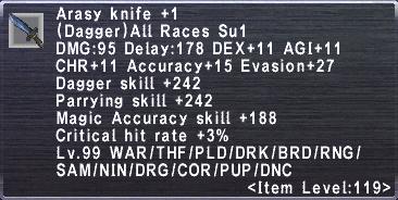 Arasy Knife +1