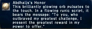 Abdhaljs's Honor