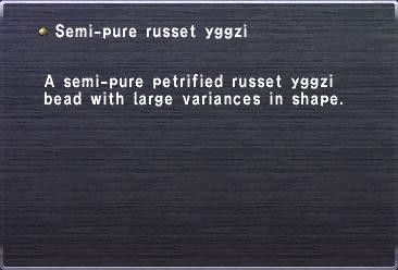 Semi-pure russet yggzi