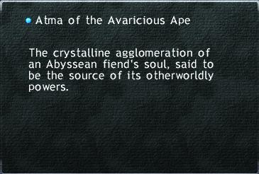 Atma of the Avaricious Ape