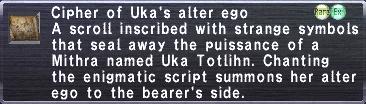 Cipher: Uka