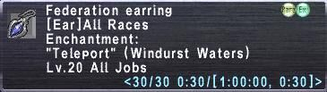 Federation Earring