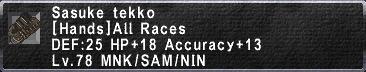 Sasuke Tekko