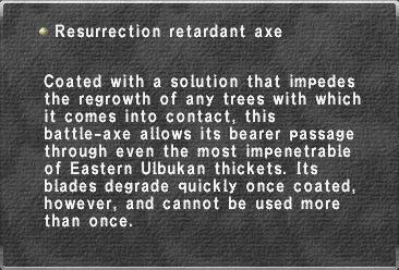 Resurrection retardant axe