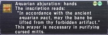 Aquarian Abjuration: Hands