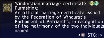 Windurstian Marriage Certificate