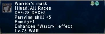 Warrior's Mask