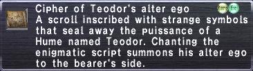 Cipher: Teodor