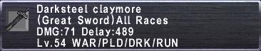 Darksteel Claymore