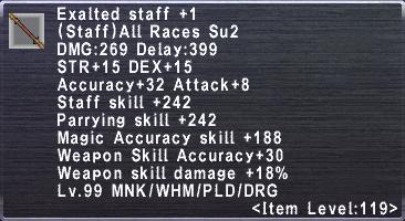 Exalted Staff +1
