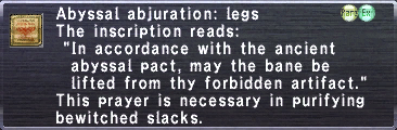 Abyssal Abjuration: Legs