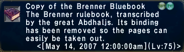 Brenner Bluebook