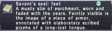 Savant's Seal: Feet