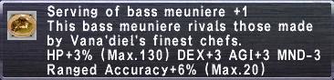 Bass Meuniere +1