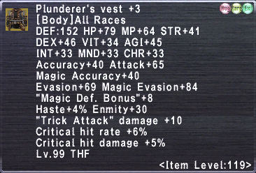 Plunderer's Vest +3