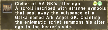 Cipher: Ark GK