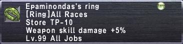 Epaminondas's Ring