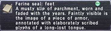 Ferine Seal: Feet