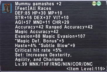 Mummu Gamashes +2