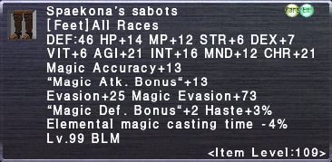 Spaekona's sabots