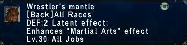 Wrestler's Mantle