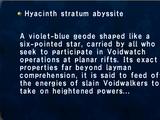 Hyacinth Stratum Abyssite
