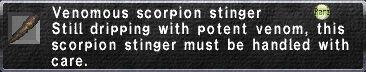 Venomous Scorpion Stinger