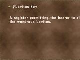 ♪Levitus key