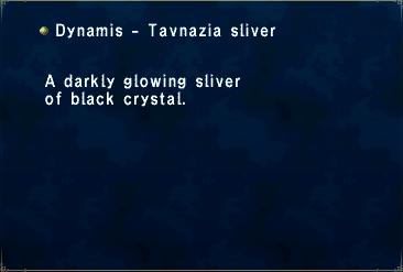 Dynamis - Tavnazia Sliver