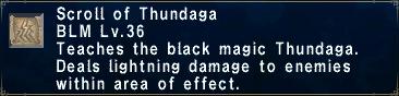 Scroll of Thundaga