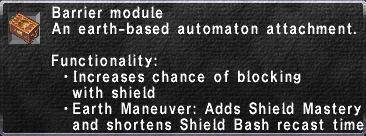 Barrier Module