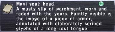 Mavi Seal: Head