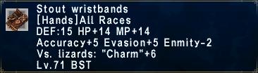 Stout Wristbands