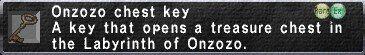 Onzozo Chest Key