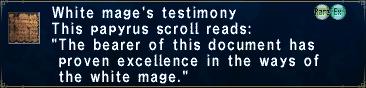 White Mage's Testimony