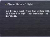 Elvaan Mask of Light