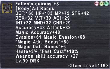 Fallen's Cuirass +3