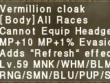 Vermillion Cloak