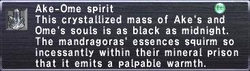 Ake-Ome Spirit