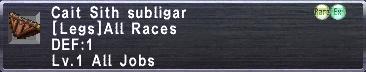Cait Sith Subligar