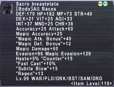 Sacro Breastplate