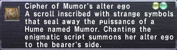 Cipher: Mumor