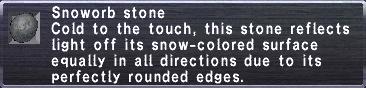 Snoworb Stone