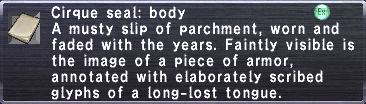 Cirque Seal: Body