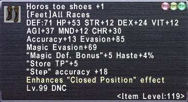 Horos Toe Shoes +1