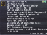 Spaekona's Coat +3
