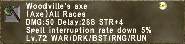 Woodville's Axe
