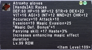 Atrophy gloves